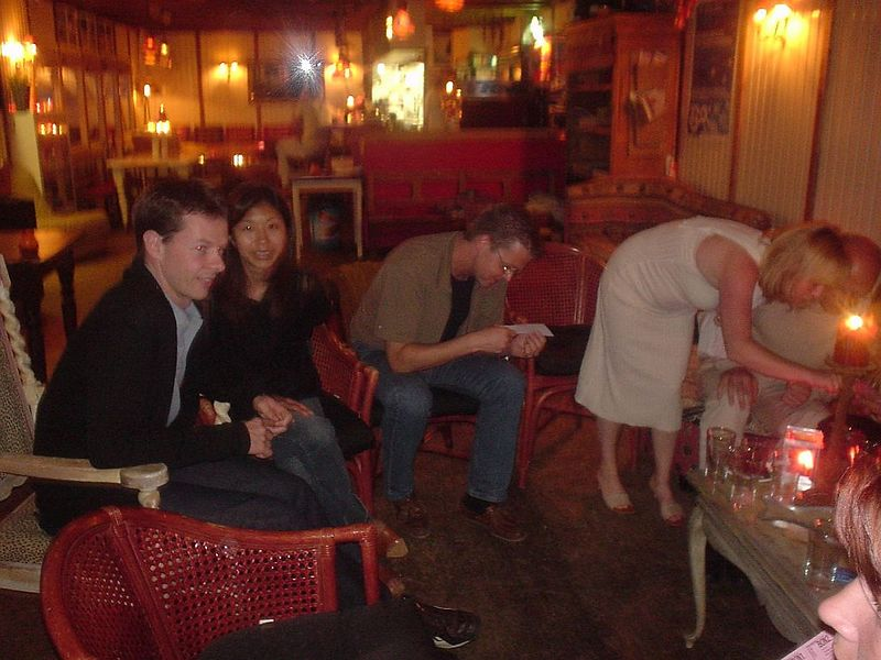 Yves and Makiko, with Dirk and Thomas' wife