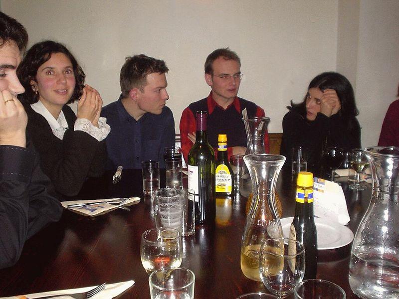 In the pannenkoekenhuis in Leiden during Jazzweek 2003