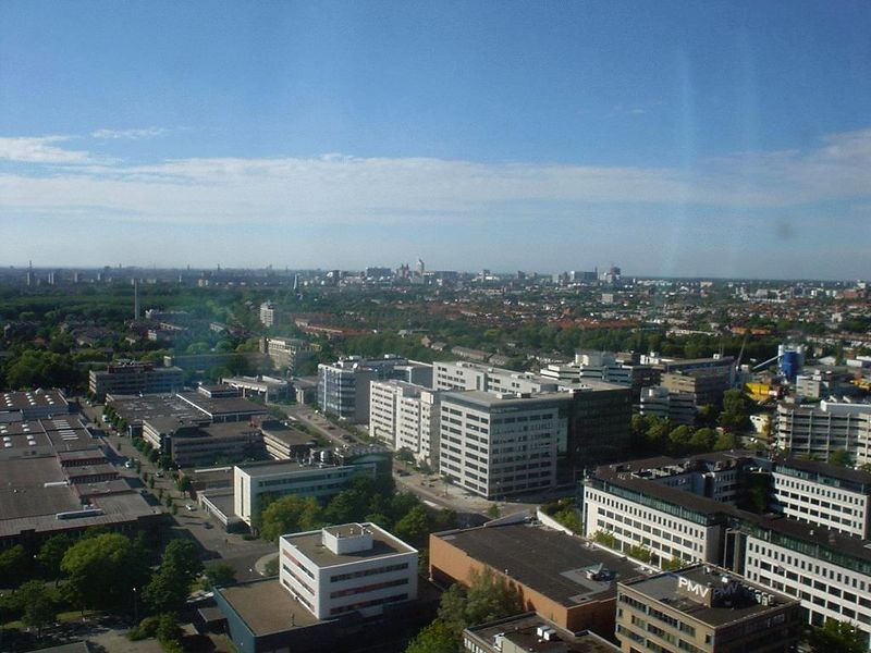 View from 25th floor of EPO main building over Den Haag and Rijswijk