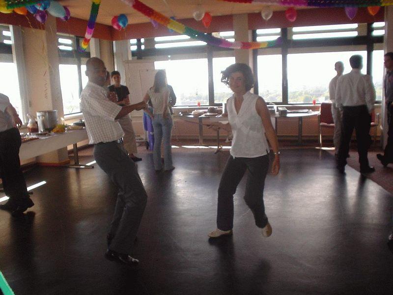 Cristina doing her karate counter attack