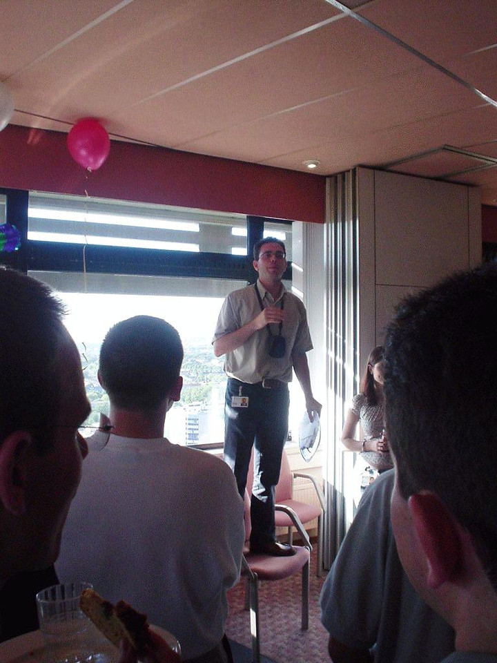 José Luis annoucing the games. Sadly most people were interested in other things... oh well...