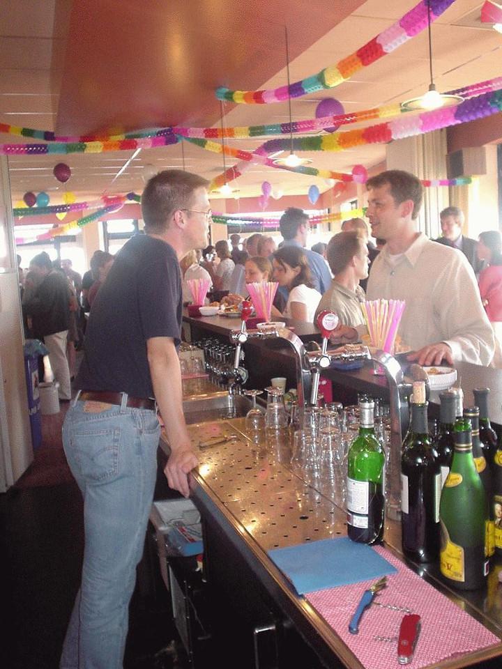 Dirk bartending