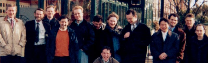 From left to right:<br> 3 ppl from Telenor, Francisco (Telefonica), Jens (DT), Marious (BT), John (Broadcom), ???, ??? (GMD Fokus), George (Telia), Jan (KPN Research), ??? (BT), me at the bottom