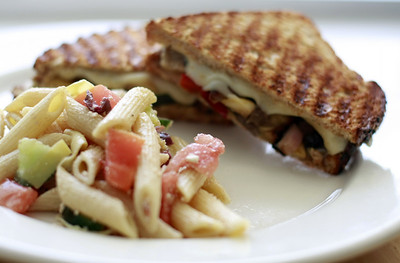 Veggie Panini with Side of The Day
