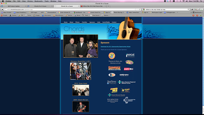 Screen Shot featuring Amanda Barber, Edwin McCain and Steve Barber of Unit4media for Chords for a Cause Concert with Edwin McCain. This is the Website.