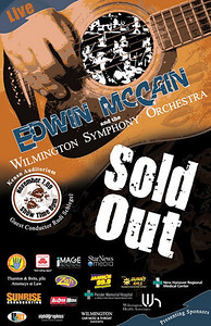 Chords for a Cause, Edwin McCain Concert. This was the second show poster created for the benefit concert by Edwin McCain and the Wilmington Symphony Orchestra at the Kenan Auditorium.  I was responsible for creating all promotional artwork for concert and marketing.