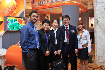 Dr Thravin, Lynn Boey, Pat Thong, Dr Ng and Fione Fu - Novartis