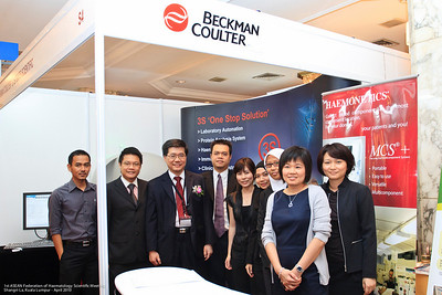 Nizam, Phillip Tan, Dr Ng, CY Choong, Esther, Ilaina, Nurhazimah, Ng Siew Bee, Amy Lee - Straits Scientific and Beckman Coulter