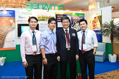 Jett Foo, George Koh, Dr Ng and YS Chan - Genzyme