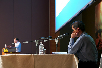 Dato' Dr Chang Kian Meng on the approach to Myelofibrosis. Session chaired by Prof SK Cheong.