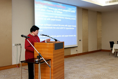 Matron Tan from Hospital Ampang talking about Infection Control in Haematology Patients