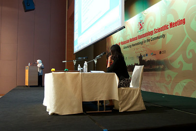 Dato' Dr Yasmin Ayob from Pusat Darah Negara touching on Transfusion-transmitted Infection