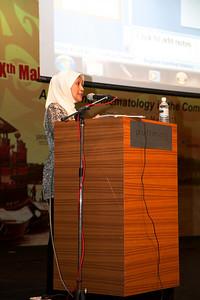 Dato' Dr Yasmin Ayob from Pusat Darah Negara touching on Transfusion-transmitted Infection
