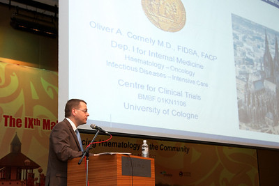 The final talk of the day was delivered by Prof Oliver Cornely of University of Cologne, Germany
