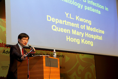 Prof YL Kwong from Queen Mary Hospital, Hong Kong touching on Hepatitis B in Haematology Patients