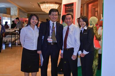 Dr Ng Soo Chin at the Novartis booth