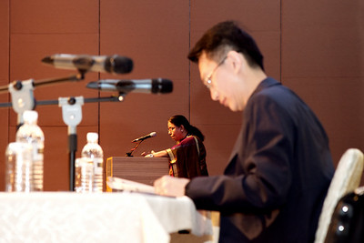 Day 1, the Bosco Memorial Lecture by Dr Puru, 29th April 2011. Chaired by Dr LG Lau.