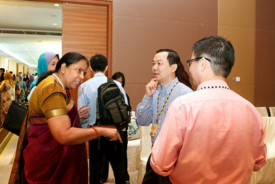 From left; Dr Jameela Sathar (partially hidden), Dr Puru, Mr WF Lam and Mr TC Ong.