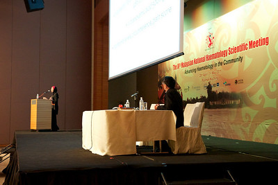 Last speaker of the afternoon was Dr Jameela Sathar. She spoke on acquired haemophilia. Dr Kok acted as the moderator.