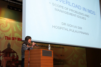 Dr Goh Ai SIm on iron overload in MDS