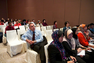 Day 2, 30th April 2011. Prof Saglio in the crowd.