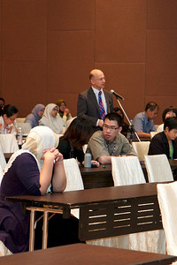 Day 3 - May 1st 2011. Prof Mark Hertzberg asking a question.