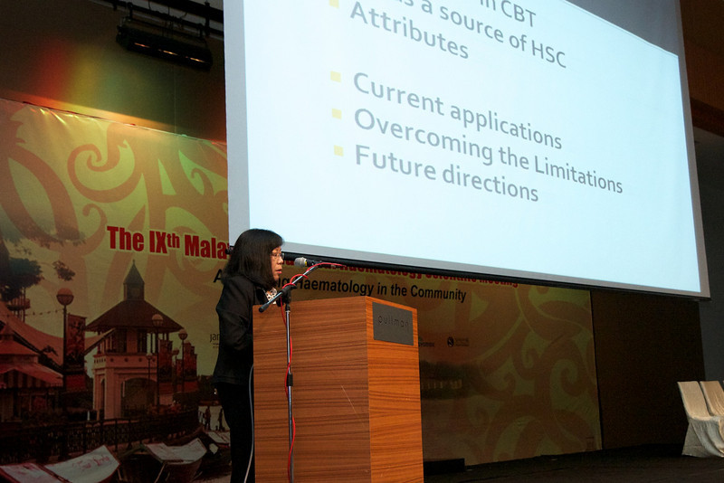 Prof Chan Lee Lee talking about umbilical cord transplant
