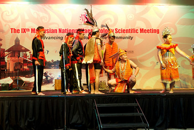 The theme was an Iban wedding. Gala Dinner for the Scientific Meeting - 30th April 2011.