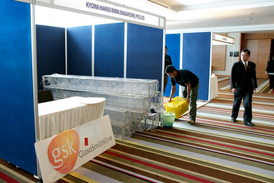 Preparing for the big day. 9th Malaysian National Haematology Scientific Meeting. Pullman Kuching, 29th April to 1st May 2011.
