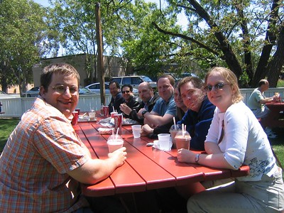 """Kyle, Kati, et al at """"Taylor's Refresher"""" in St Helena"""