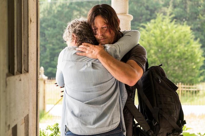 Melissa McBride as Carol Peletier, Norman Reedus as Daryl Dixon- The Walking Dead _ Season 7, Episode 10 - Photo Credit: Gene Page/AMC