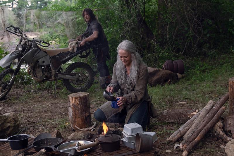 Norman Reedus as Daryl Dixon, Melissa McBride as Carol Peletier- The Walking Dead _ Season 9, Episode 7 - Photo Credit: Gene Page/AMC