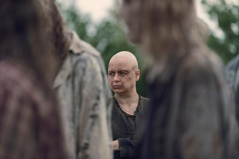 Samantha Morton as Alpha- The Walking Dead _ Season 9, Episode 10 - Photo Credit: Gene Page/AMC