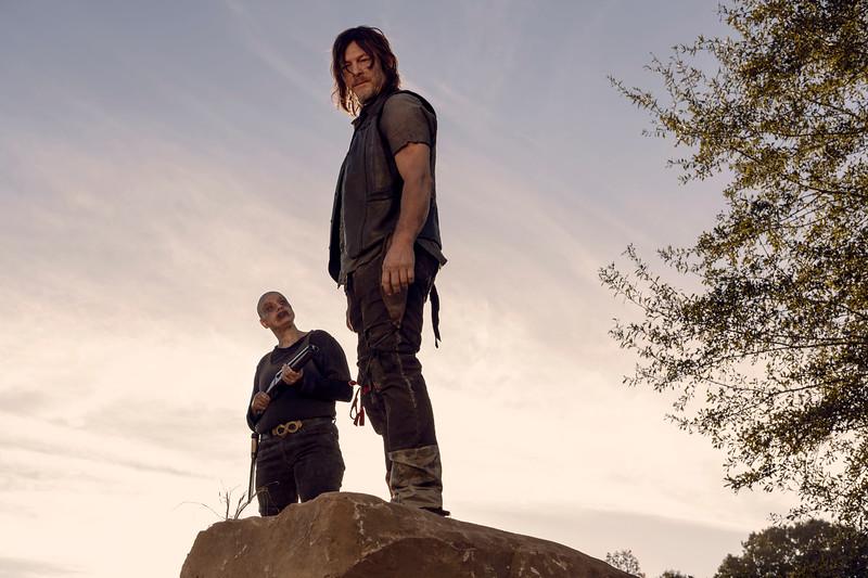 Norman Reedus as Daryl Dixon, Samantha Morton as Alpha- The Walking Dead _ Season 9, Episode 15 - Photo Credit: Gene Page/AMC