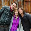 BTS, Jeffrey Dean Morgan as Negan, Norman Reedus as Daryl Dixon, Executive Producer Gale Anne Hurd - The Walking Dead _ Season 7, Episode 16 - Photo Credit: Gene Page/AMC
