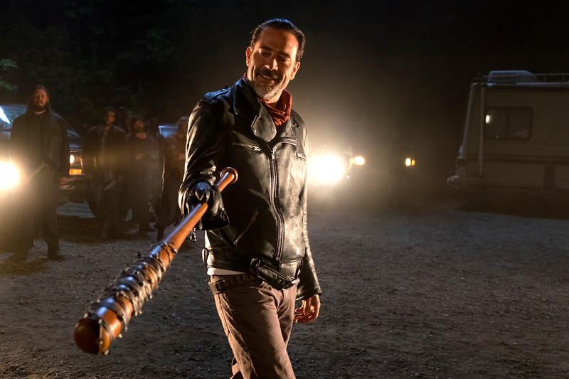 Jeffrey Dean Morgan as Negan- The Walking Dead _ Season 7, Episode 1 - Photo Credit: Gene Page/AMC