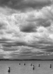 Clouds over Seward Park, Seattle