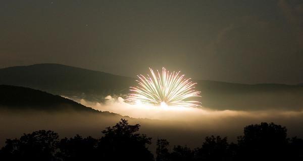 Margaretville Fireworks, 2012