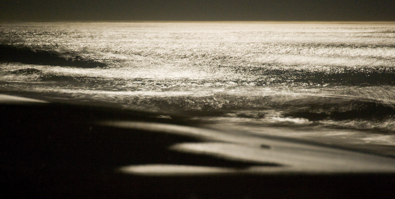 Moonrise over the Atlantic.