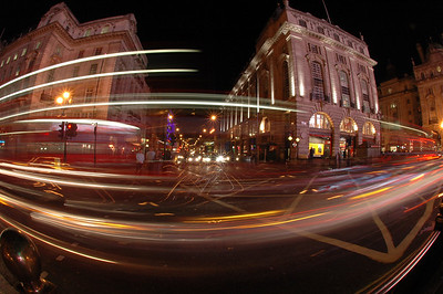 Piccadilly at night, London