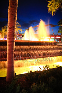 Fountain out of Innovations West, EPCOT, Orlando, FL