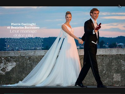 2015-08-01.Pierre Casiraghi and Beatrice Borromeo.s wedding at Rocca Angera, Lago Maggiore, Italia