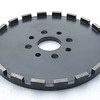 250mm wheel<br /> 3 hole patterns in stock; 4/8/8with countersink (as shown)
