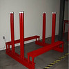 Safety Bundle Breaker <br /> Part Number  52517<br /> Your bundle of slabs arrive and now you have to get to one of the inner slabs.  The Safety Bundle Breaker provides a sturdy, safe platform to do just that.  Strong, double-welded Sch 40 pipe that measures just under 53 inches (134.62 cm) provides the strength needed to separate slabs for processing.  These vertical supports have adjustable slots to accommodate even the largest of bundles.  Plastic caps at the top of the vertical supports prevent material from being scratched.  Metal gratings on either side for sure-footed control while separating slabs.