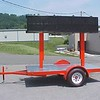 LED sign display trailer for Optec