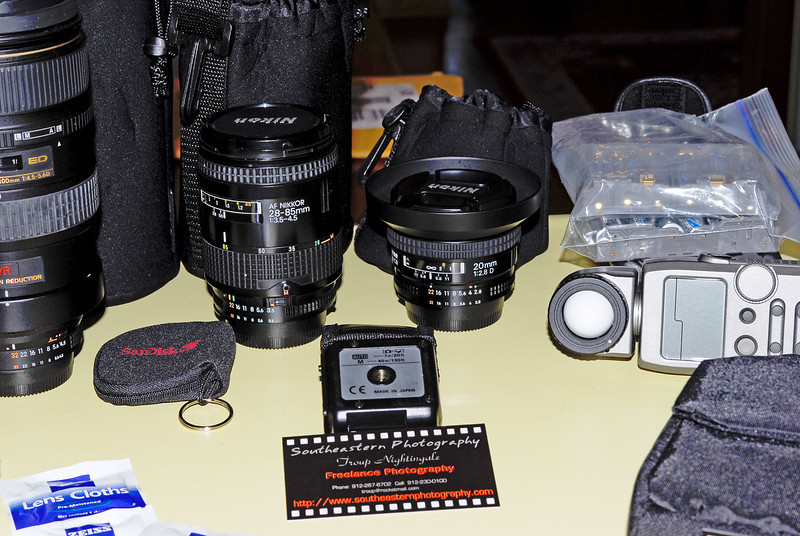Items photographed for a trip - not all inclusive. I will be photographing individual items for a complete list soon.