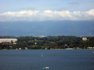 From left to right--Geneva and the Rhone River--panorama #5