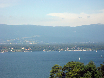 From left to right--Geneva and the Rhone River--panorama #10