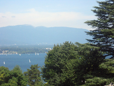 From left to right--Geneva and the Rhone River--panorama #11