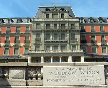 The Woodrow Wilson Palace--now a hotel, this was to have been the site for the League of Nations